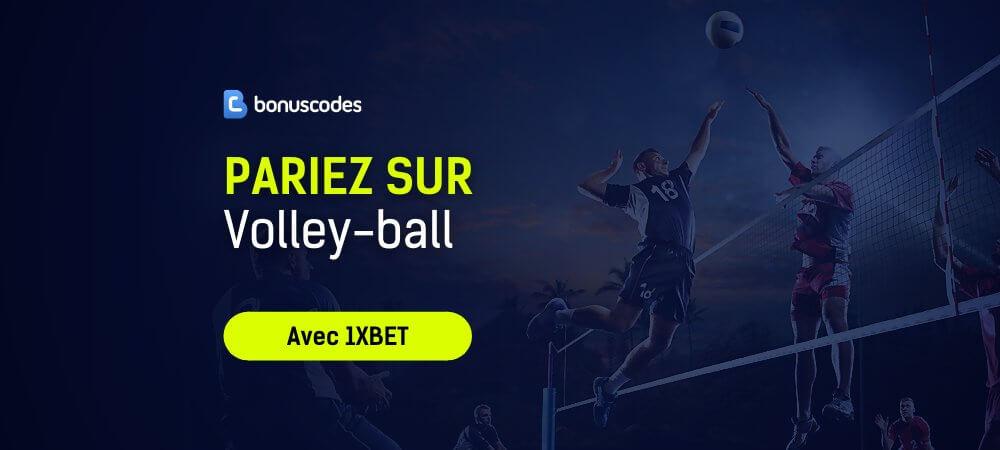 Paris sportifs volley 1xbet