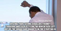 Arsenal fans memes