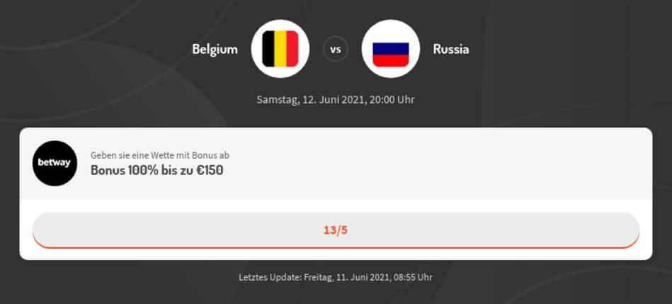 Belgien - Russland Wetten