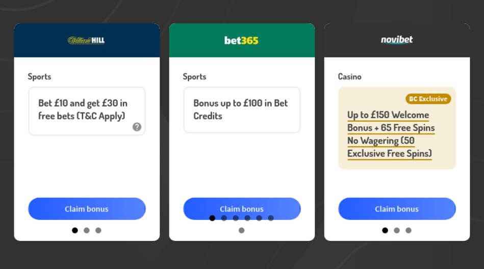 Bonus Codes for Legal Bookmakers and Casinos in the UK