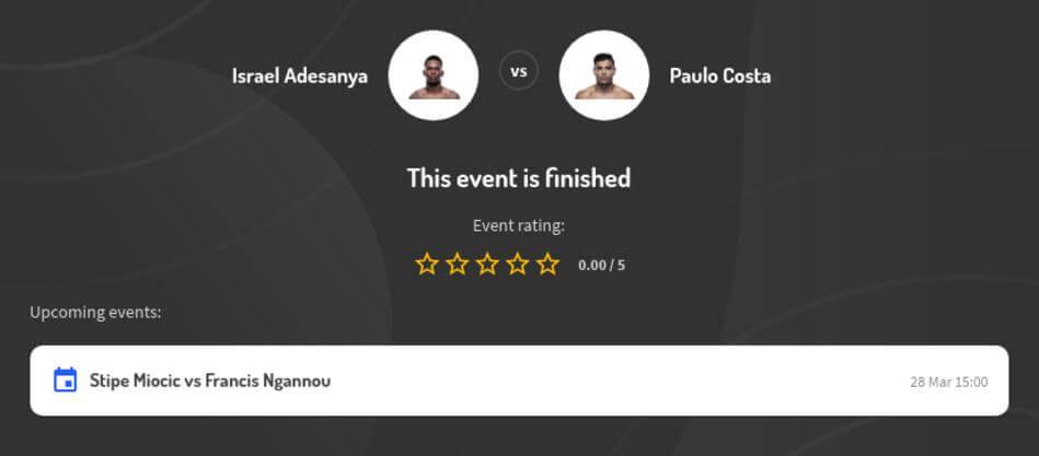 Israel Adesanya vs Paulo Costa Predictions