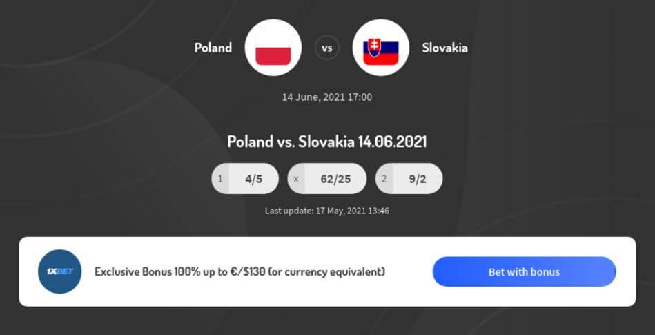 Poland vs Slovakia Betting Odds