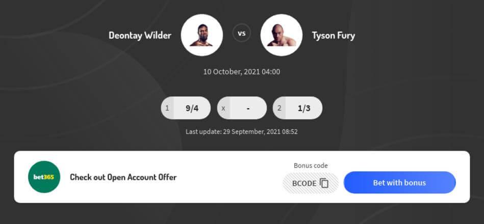Fury vs Wilder III Betting Odds
